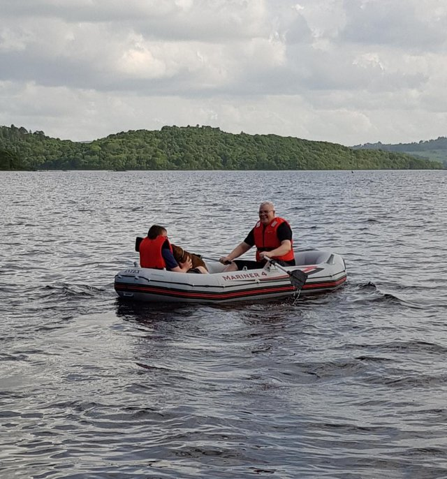 Preview of the first image of Large 3 man inflatable dinghy. Used once..
