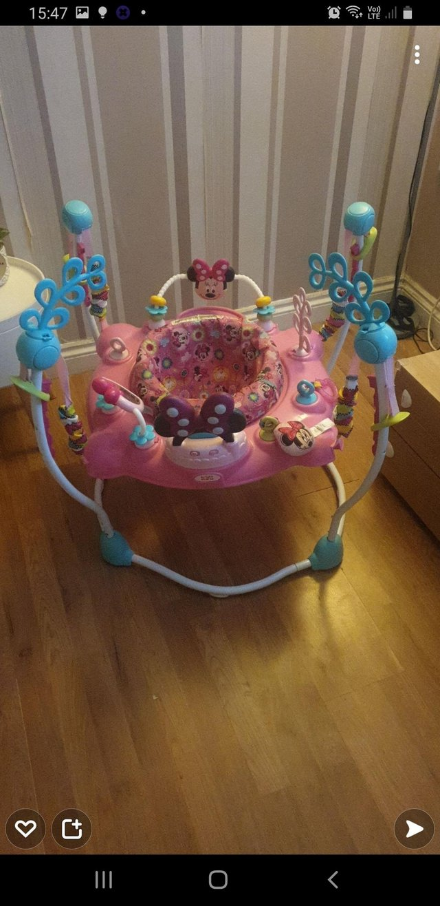 Preview of the first image of Girls minnie mouse activity bouncer.