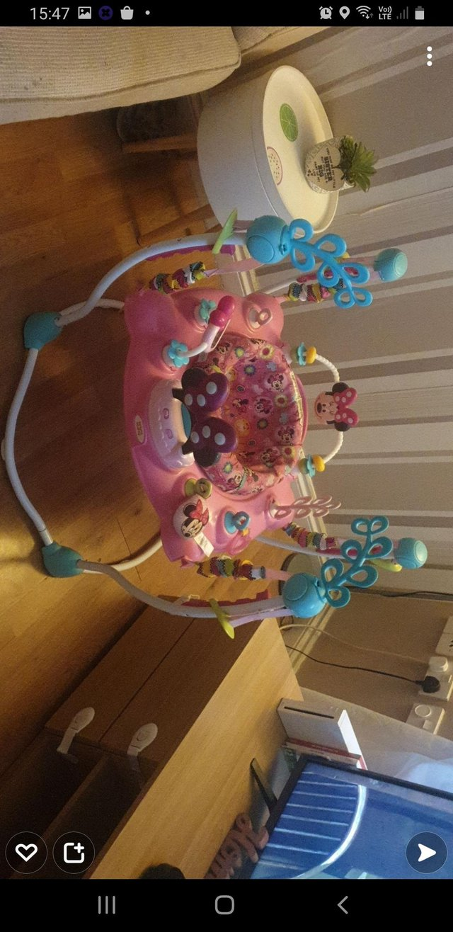 Image 2 of Girls minnie mouse activity bouncer