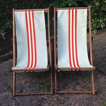 retro deck chairs for sale in east yorkshire