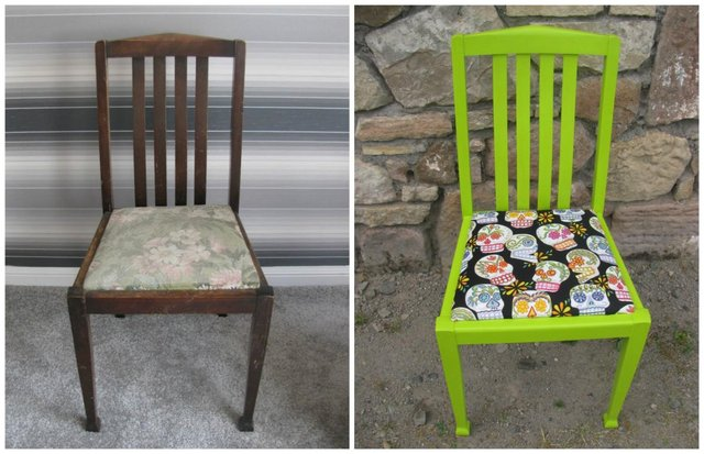 upcycled chair