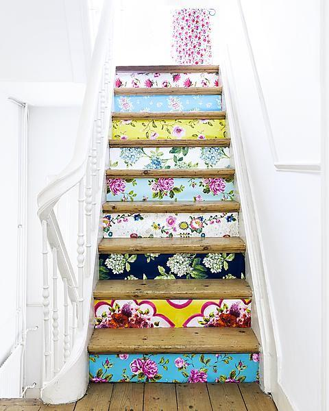 Carved Wood Stair Risers Stair Ideas Stamped Leather: Home Ideas: Decorative Stair Risers
