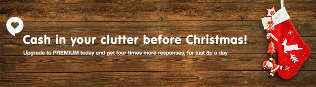 Cash in your clutter banner