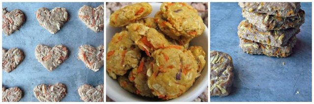 Carrot and Oat Dog Biscuits