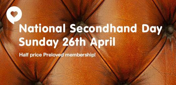 National Second Hand Day banner